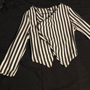 Striped short blazer